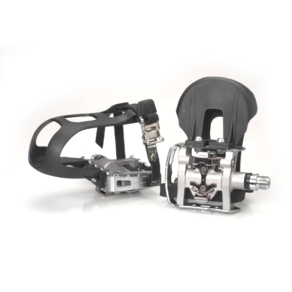 Shimano PD-M324 pedals w/toe clips and straps